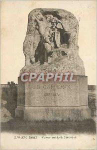 Ansichtskarte AK 2 valenciennes monument j b carpeaux