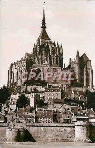 Moderne Karte 22 mont st michel l abbaye l abside de la basilique