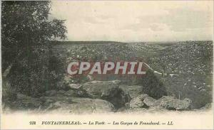 Ansichtskarte AK Fontainebleau La Foret Les Gorges de Franchard
