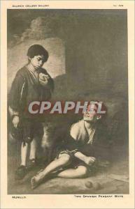 Ansichtskarte AK Murillo Two Spanish Peasant Boys Dulwich College Gallery