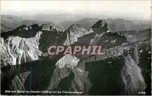 Moderne Karte Blick Vom Gipfel des Habicht (3280 m) auf die Tribulaungruppe