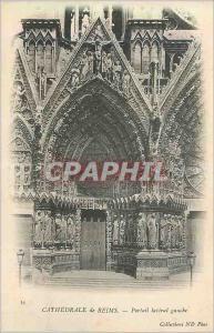 Ansichtskarte AK Reims La Cathedrale Portail Lateral Gauche