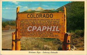 Moderne Karte Welcome Sign entering Colorado