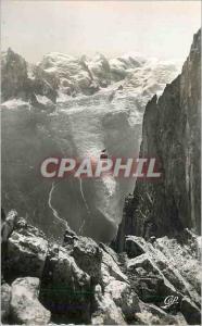 Moderne Karte Chamonix Mont Blanc La Tete du Brevent et le Mt blanc