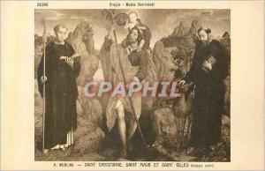 Ansichtskarte AK 31566 bruges musee communal h memling saint christophe  saint maur et saint gilles (triptyque ce