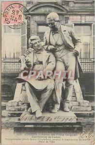 Ansichtskarte AK 100 corbeil statue des freres galignani bienfaiteurs de corbeil