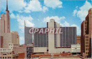 Moderne Karte Skyline Dallas Texas