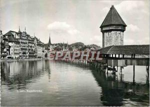 Moderne Karte Luzern Kapellbrucke