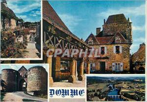 Moderne Karte Domme Vallee de la Dordogne Rue Fleurie La Maison du Gouvernement La Porte des Tours