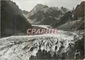 Moderne Karte Chamonix (Hte Savoie) La Mer de Glace et le Massif des Grandes Jorasse