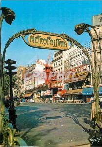 Moderne Karte Paris et ses Merveilles Montmartre Le Moulin Rouge Place Blanche Metro