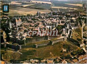 Moderne Karte Carcassonne Lumiere et Couleurs de l'Aude Cite Medievale (Ve XIIIe S) Vue Generale Aerienne