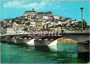 Moderne Karte Coimbra Vue Partielle et Pont sur le Fleuve Mondego
