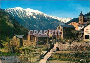 Moderne Karte Village Typique d'Ordino (Andorra)