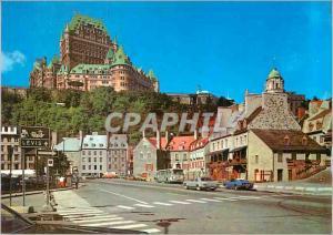 Moderne Karte Quebec Que Le Chateau Frontenac Dominant la Vieille Basse Ville