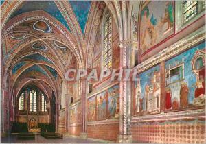 Moderne Karte Assisi Basilique de St Francois Eglise Superieur Interieur