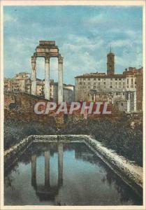 Moderne Karte Roma Temple de Castor et Pollux