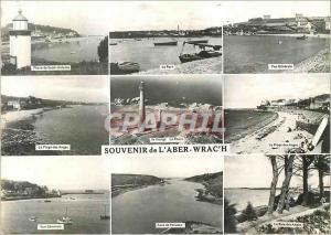 Moderne Karte Souvenir de l'Aber Wrac'h Phare de Saint Antoine Le port Vue generale La plage des anges Ile Vie