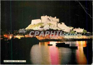 Moderne Karte Mont Orgueil Castle Jersey