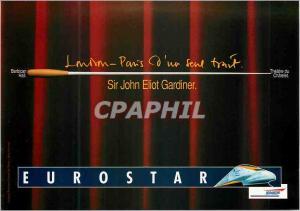 Moderne Karte London Paris d'un Seul Trait Theatre Chatelet Sir John Eliot Gardiner Eurostar Train