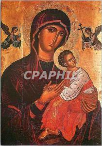 Moderne Karte Joyeux Noel Bonne Annee Ic�ne grecque Sainte Mere de la Passion