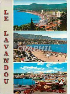 Moderne Karte Le Lavandou La Cote d'Azur Vue Generale La Plage Un Coin du Port
