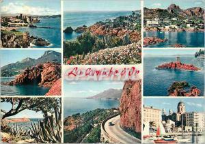 Moderne Karte La Corniche d'Or Reflets de la Cote d'Azur