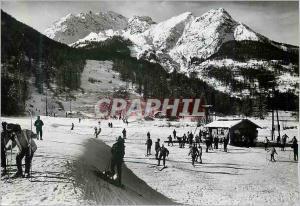 Moderne Karte Le Monetier (Htes Alpes) les Bains Les Grandes Alpes en Hiver Alt 1470 m