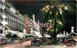 Moderne Karte Nice La Cote d'Azur La Promenade des Anglais la Nuit