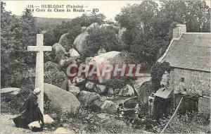 Ansichtskarte AK Huelgoat (Finistere) La Croix du Chaos du Moulin