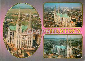 Moderne Karte Chartres (Eure et Loir) La Cathedrale (XIIe XIIIe Siecles) Facade Occidentale et Croisillon Nord