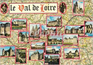 Moderne Karte les Merveilles du Val de Loire