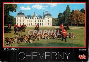 Moderne Karte Cheverny (Loir et Cher) Chateaux de la Loire Chasse Chiens