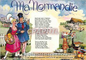 Moderne Karte Ma Normandie Vaches