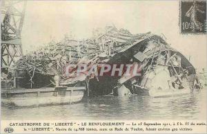 REPRO Le Renflouement Catastrophe du Liberte le 25 Septembre 1911