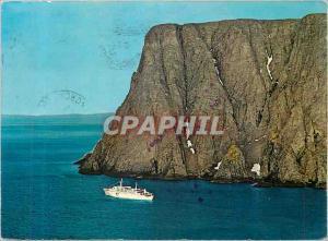 Moderne Karte Norway Turistbat Passerer Nordkapp Bateau