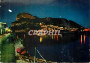 Moderne Karte Le Rocher de Gilbraltar a la Nuit