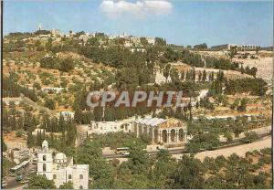 Moderne Karte Jerusalem Jardin de Gethsemani