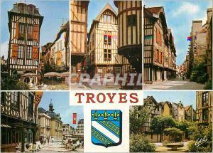 Moderne Karte Troyes (Aube) Capitale de la Champagne le Vieux Troyes