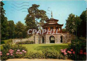 Moderne Karte l'Isle Adam dans le Parc de Cassan le Pavillon Chinois