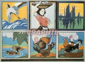 Moderne Karte Victoria and Albert Museum Group of Six Tiles With Printed Decoration