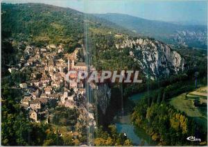 Moderne Karte Les Beaux Sites du Lot Le Pittoresque Village de St Cirq Lapopie