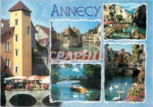 Moderne Karte Annecy (Haute Savoie France) La Vieille Ville Le Pont des Amours