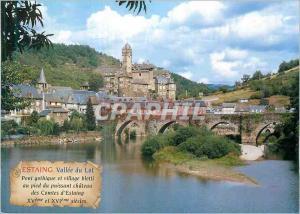 Moderne Karte Estaing Vallee du Lot Aveyron l'un des Plus Beaux Villages de France