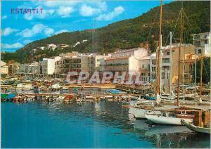 Moderne Karte Estartit (Costa Brava) Club Nautique Vue Partielle