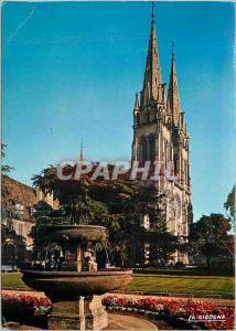 Moderne Karte Moulins (Allier)Cathedrale Notre Dame (Sa facade est dominee par deux Tours a fleches de Pierres