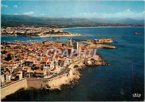 Moderne Karte Antibes (A Mrnes)Les remparts la vieille ville le Port et le Fort Carre