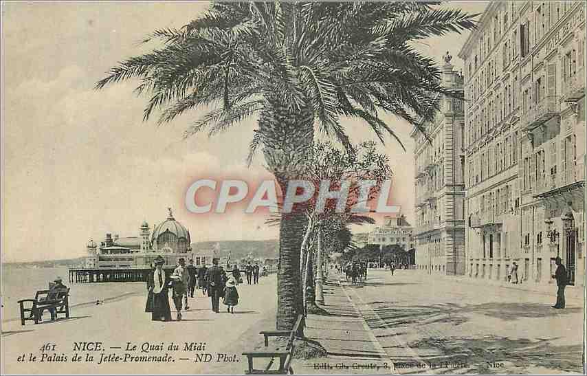 Ansichtskarte AK Nice le Quai du midi et le Palais de la Jetee Promenade 0