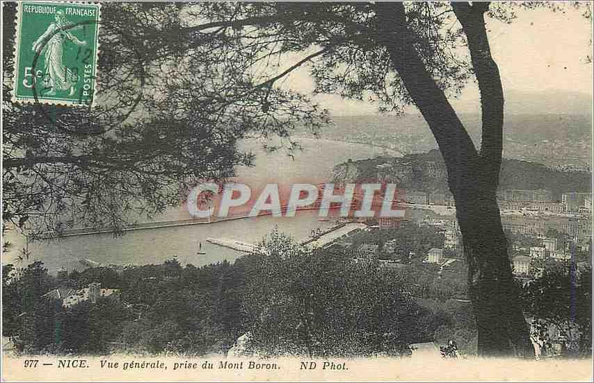 Ansichtskarte AK Nice vue prise de Mont Boron 0