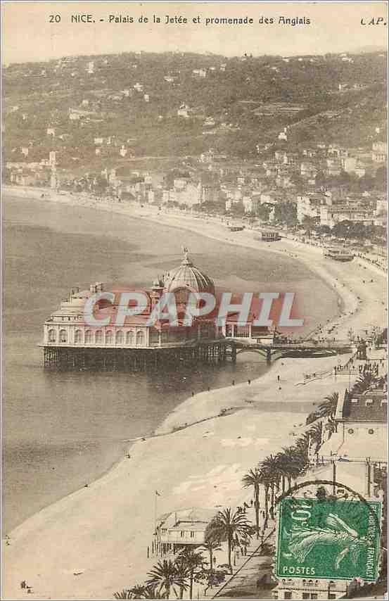 Ansichtskarte AK Nice Palais de la Jetee et Promenade des Anglais 0